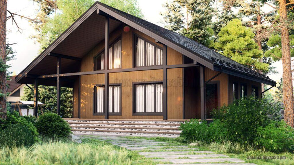 Проект 674. Дом из бруса 8х11.5