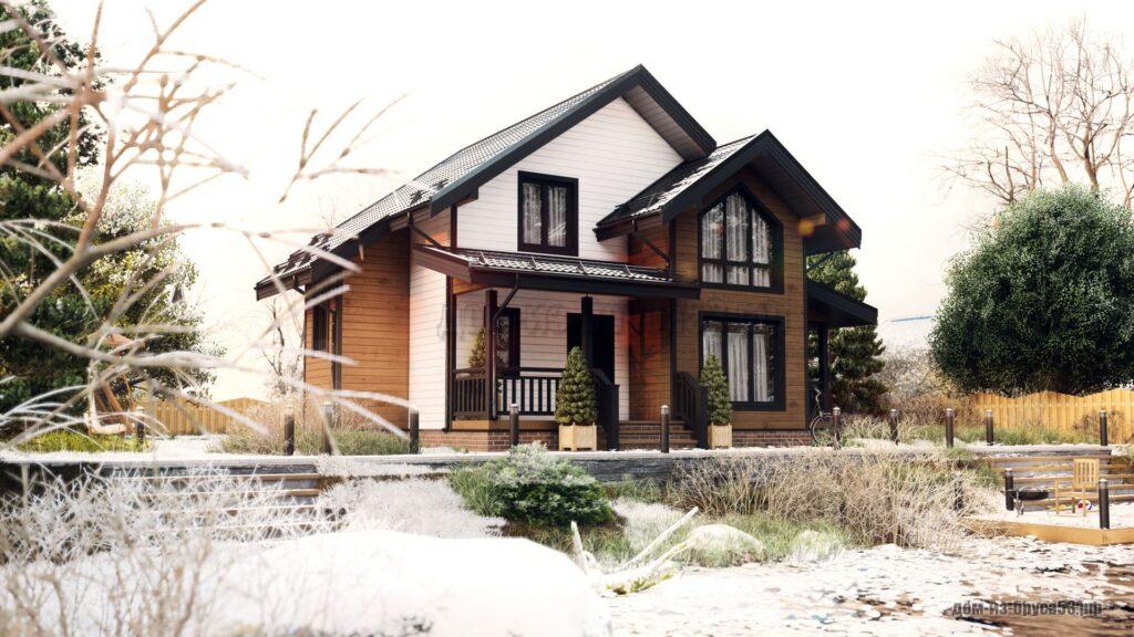 Проект 675. Дом из бруса 7.5х8