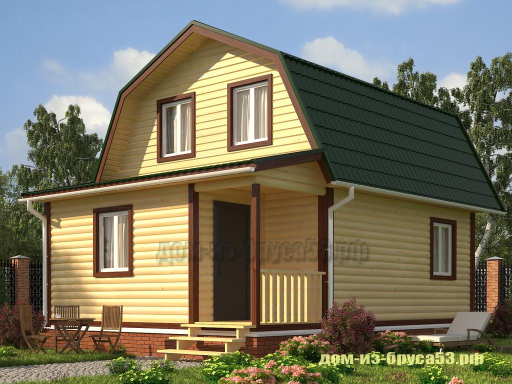 Каркасный дом 6х8  К252В.