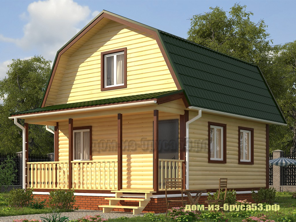 Каркасный дом 6х8  К227Б.
