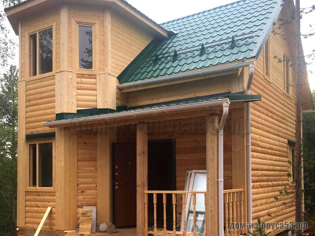 Строительство дома из бруса 7х9