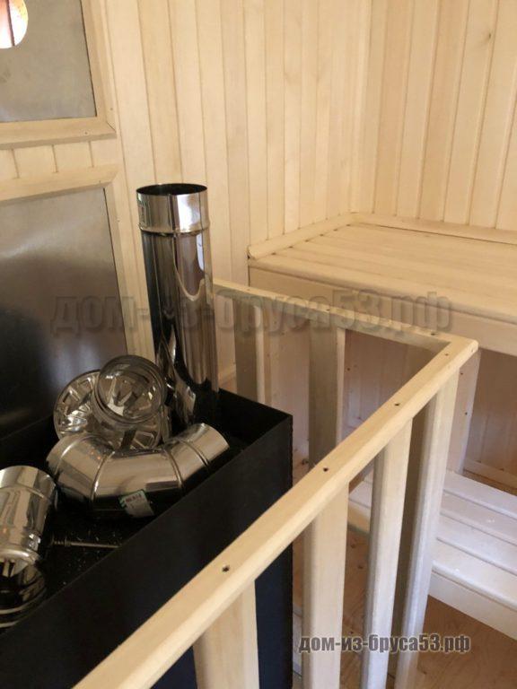 Печь в перевозной бане