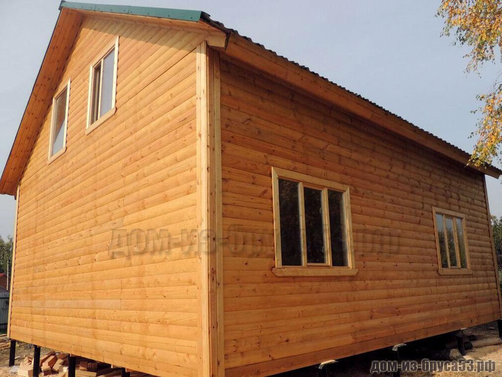 Строительство дома из бруса 6х10
