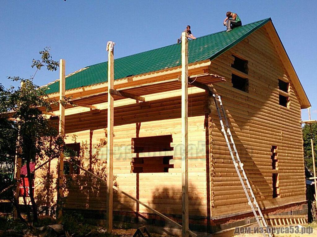 Строительство дома из бруса 8х9