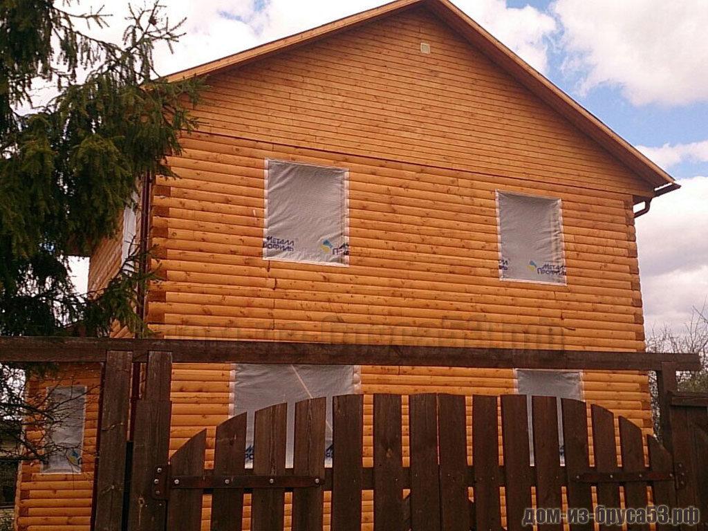 Строительство дома из бруса 8х10