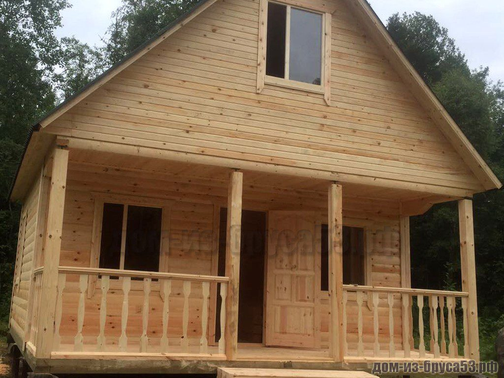 Строительство дома из бруса 6х6