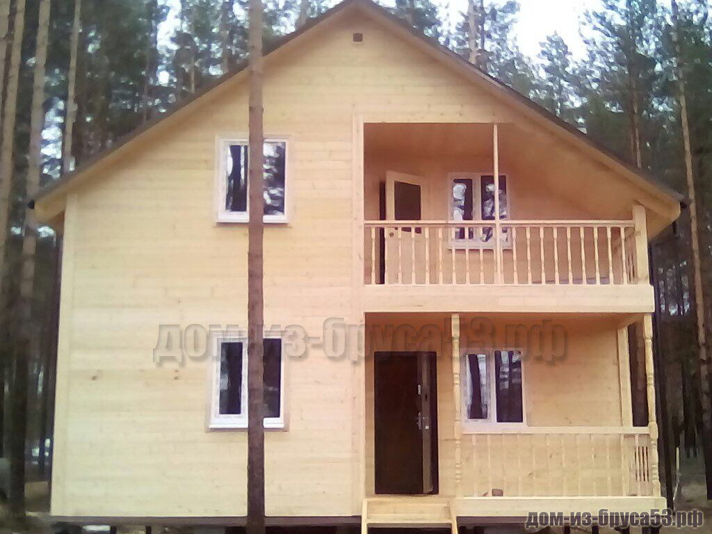 Дом из бруса 8х10 Проект №210.