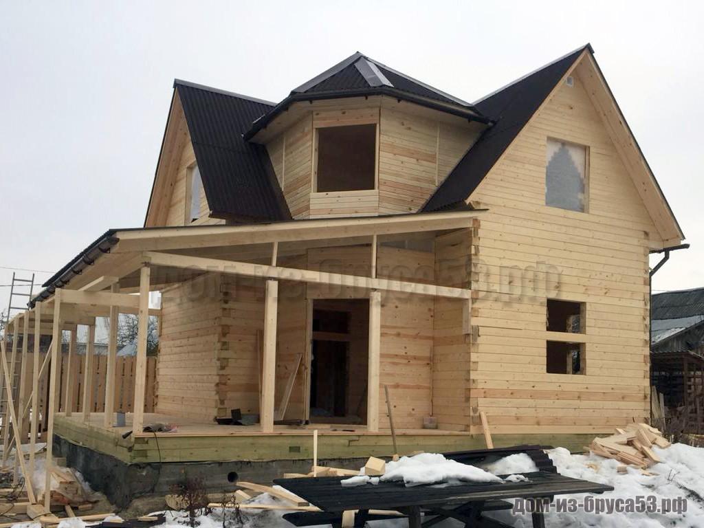 Строительство дома из бруса 9х9