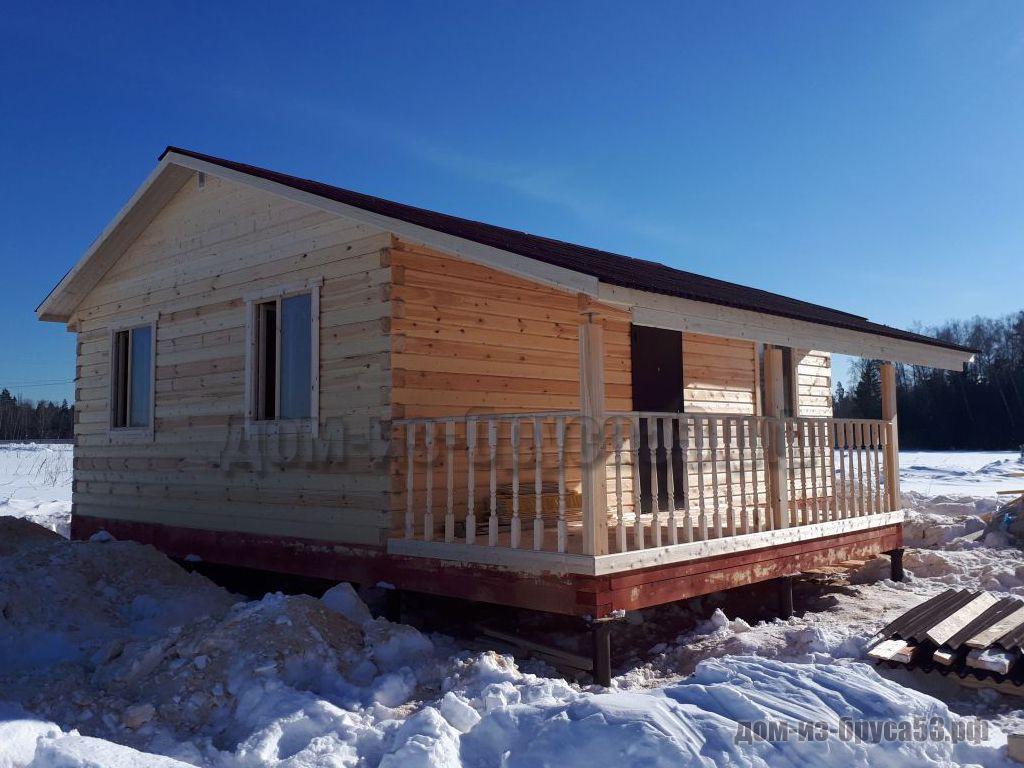 Строительство дома из бруса 6х8