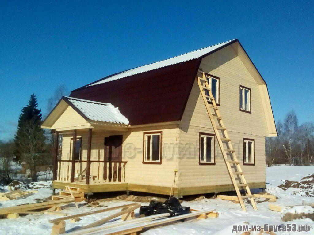 Каркасный дом 7х9  К240Д.