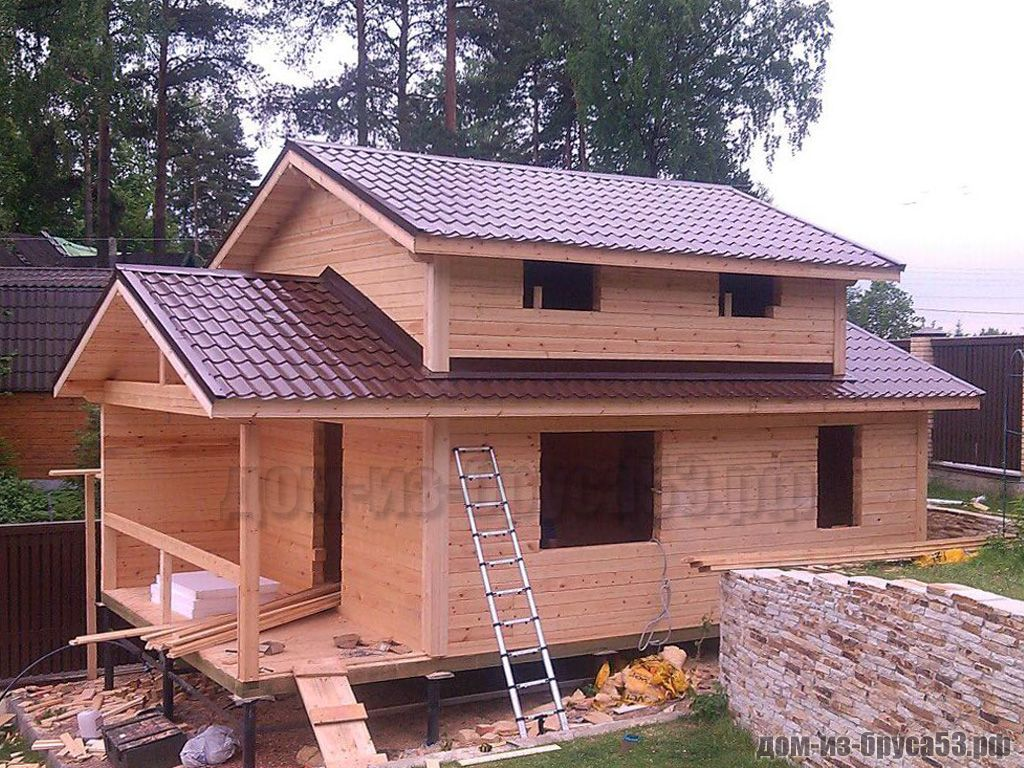 Строительство дома-бани из бруса