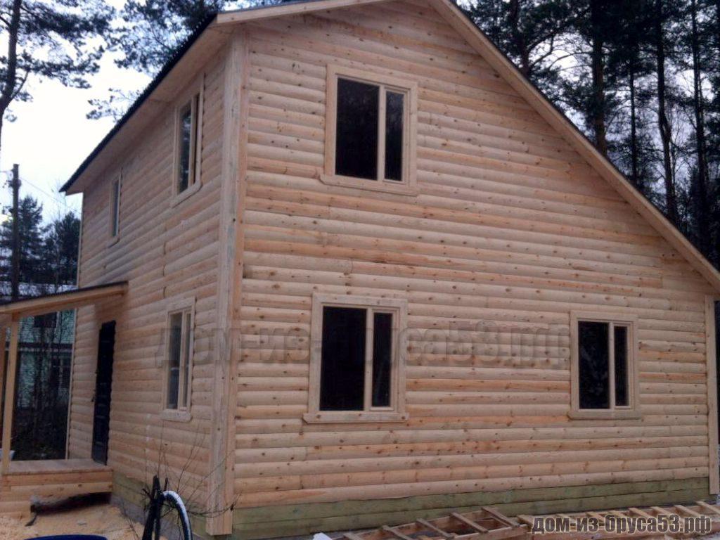 Строительство дома 6х8 из бруса