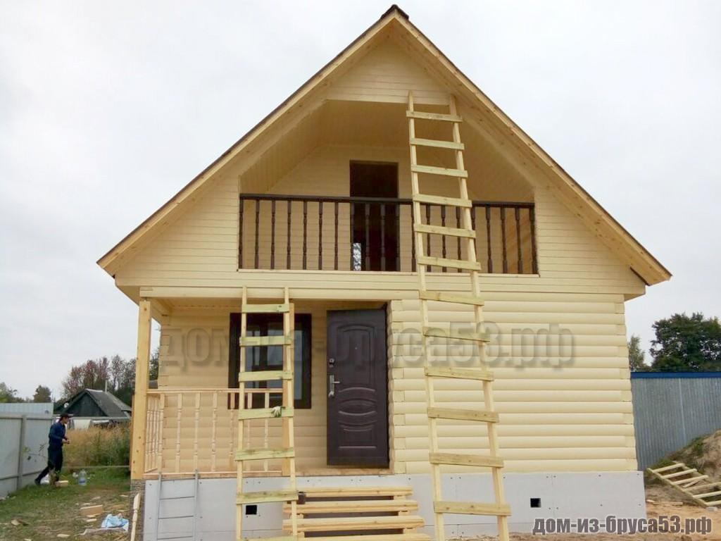 Каркасный дом 6х6  К518.