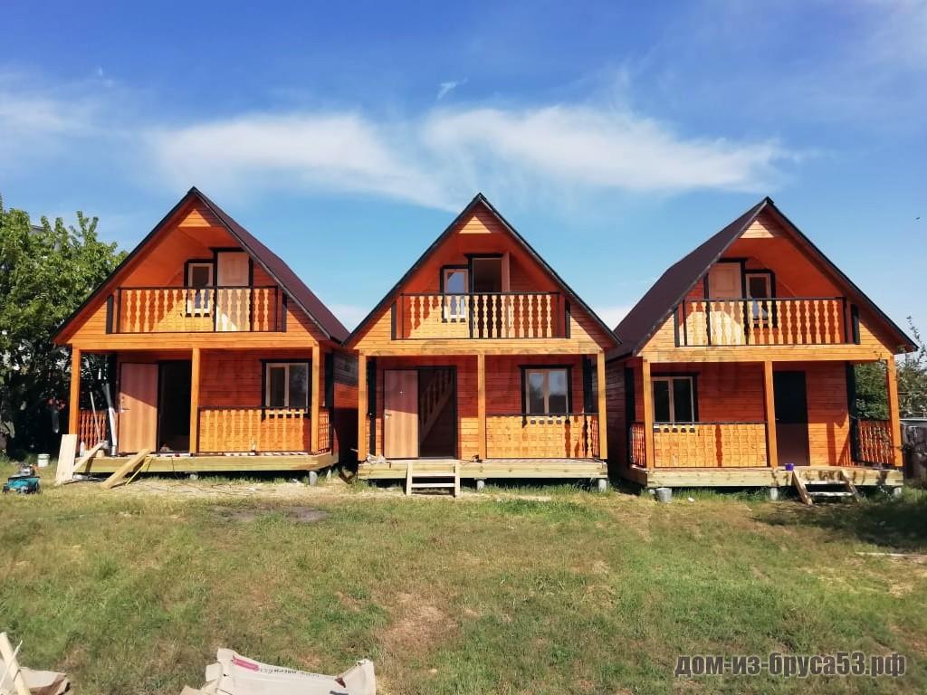 Три дома из бруса для гостей в Крыму
