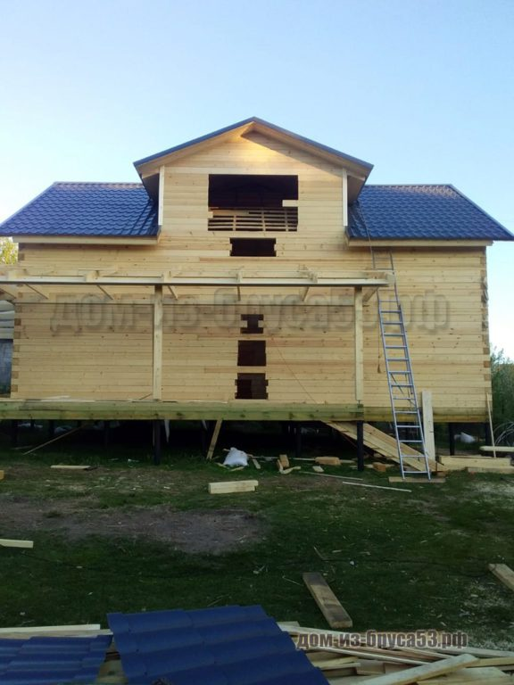 Дом из плоского профилированного бруса