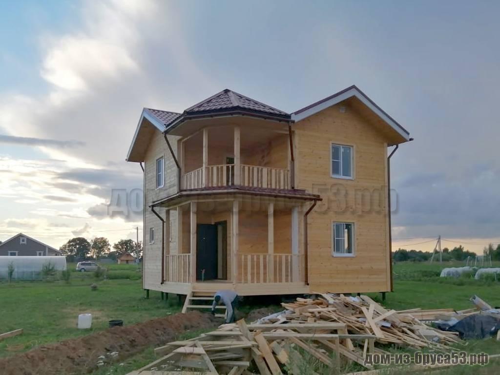 Строительство дома из бруса 8х8