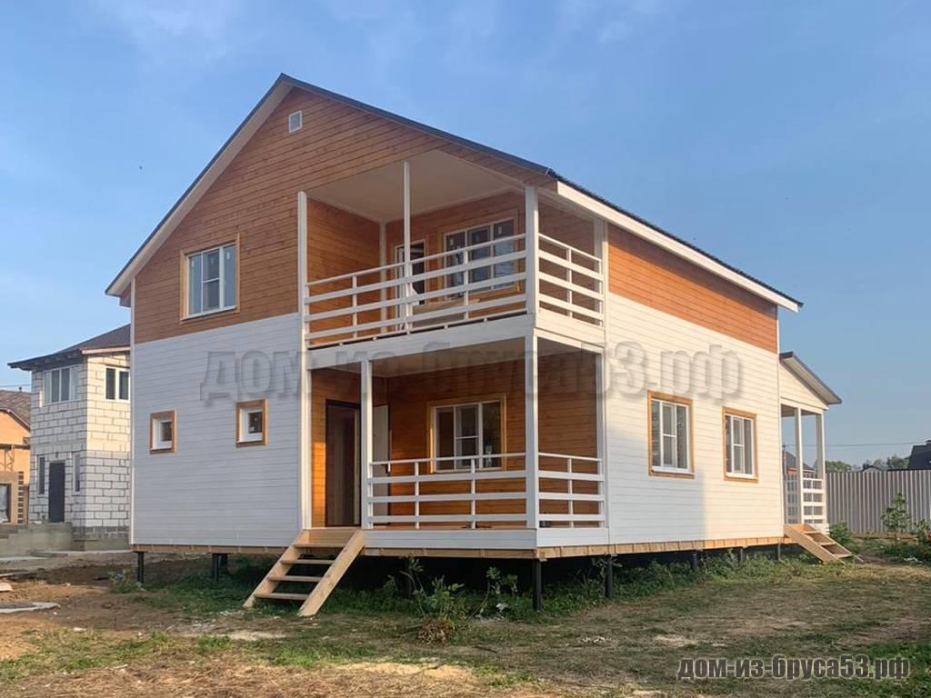 Дом из бруса 8х8 Проект №637.